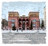 Krasnoyarskmuseum van lokale overlevering Stock Foto's