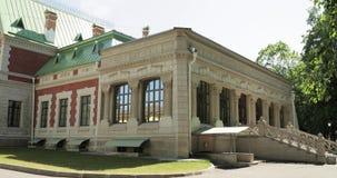 Krasny Bereg, Zhlobin-District, Wit-Rusland Manor-park Complex Landgoed gatowski-Poklevsky-Kozell op Bank van Rivier Dobosna stock video
