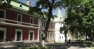 Krasny Bereg, Zhlobin-District, Wit-Rusland Manor-park Complex Landgoed gatowski-Poklevsky-Kozell op Bank van Rivier Dobosna stock videobeelden