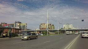 Krasny Put Street and Bridge named after the stock video footage