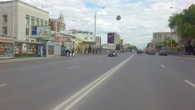 Krasny setzte Straße in das Stadtzentrum ein stock footage