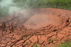 Krasnyy Red Mudpot in Valley of Geysers. royalty free stock images
