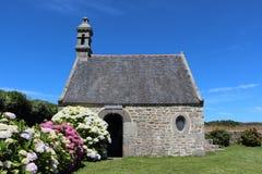 Krasomówstwo saint michel kaplica w Plouguerneau zdjęcie stock