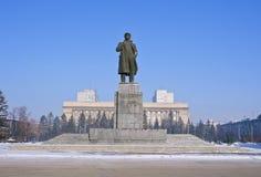 Krasoyarsk il monumento a Lenin Fotografia Stock Libera da Diritti