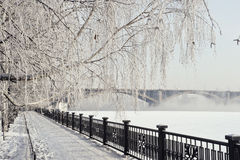 Krasoyarsk Kommunalnii most zdjęcie stock