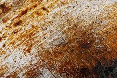 Krassend oud roestig metaal Achtergrond textuur Royalty-vrije Stock Foto