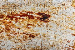 Krassend oud roestig metaal Achtergrond textuur Royalty-vrije Stock Foto's