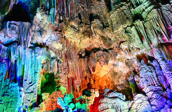 krasu cavern w YANGSHUO okręgu administracyjnym Zdjęcia Stock