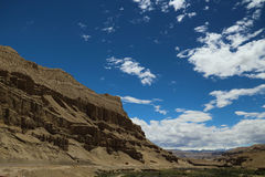 Krasu landform w Tybet Fotografia Stock