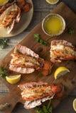 Kraszeni Piec homarów ogony Obrazy Stock