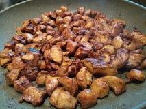 Kraszony i marynowany dices kurczak Zdjęcia Stock