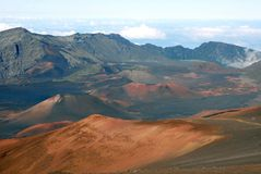 Krater 9 van Haleakala Stock Foto's