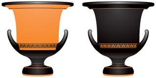 Krater, altgriechischer keramischer Vase lizenzfreie abbildung