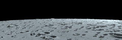 Krater auf der panoramischen Landschaft des Mondes lizenzfreie abbildung
