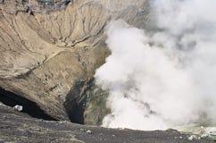 Krater av den Bromo vocalnoen, East Java, Indonesien Arkivbild