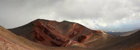 Krater av den Etna vulkan, Italien Arkivbild