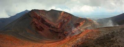 Krater av den Etna vulkan, Italien Royaltyfri Fotografi