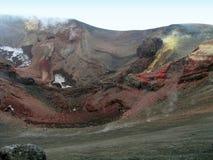 Krater av Etna Arkivfoton
