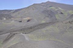 Krater av Etna. Sicily. Italien. Arkivbilder