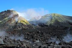 Krater av Mt Etna Arkivfoton
