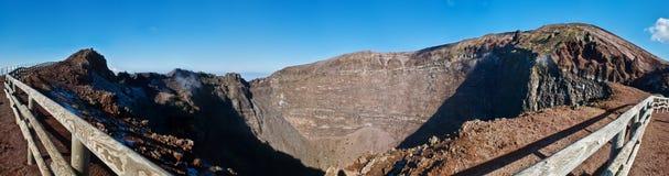 Krater av vulkan Vesuvio Arkivfoto
