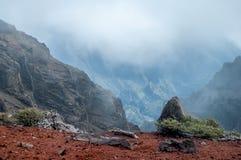 Krater Caldera de Taburiente, La Palma royaltyfri bild