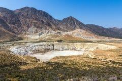 Krater des aktiven Vulkans Stockbilder