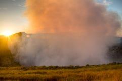 Krater des Mombacho-Vulkans nahe Granada, Nicaragua Lizenzfreies Stockbild