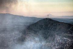 Krater des Mombacho-Vulkans nahe Granada, Nicaragua Lizenzfreie Stockbilder
