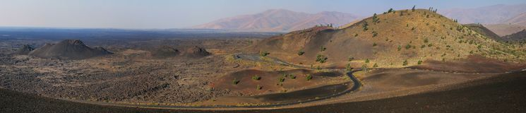Krater des Mond-Nationaldenkmals, Idaho, USA lizenzfreie stockbilder