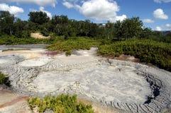 Krater des Vulkans Uzon Lizenzfreie Stockfotografie