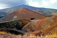 krater etna första Royaltyfri Foto