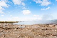 krater Geisyr w Haukadalur terenie w Iceland Obraz Royalty Free