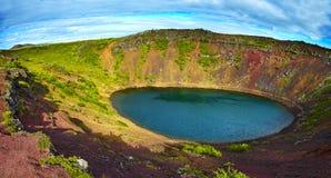 krater iceland Arkivbild