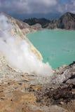 krater ijen royaltyfri foto