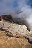 krater ijen arkivfoton