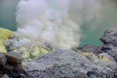 krater ijen Zdjęcie Royalty Free