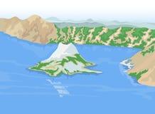 Krater jeziora ilustracji
