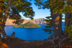 Krater jeziora park narodowy Obrazy Stock