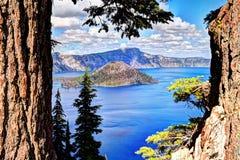 Krater jeziora park narodowy obraz stock