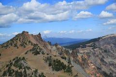 Krater jeziora park narodowy Zdjęcia Royalty Free