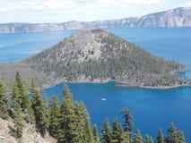 Krater jeziora park narodowy Obrazy Royalty Free