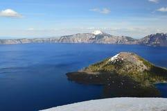 Krater jeziora park narodowy Zdjęcie Stock