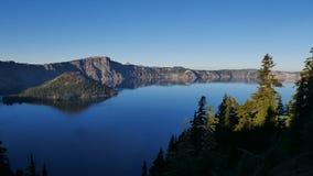 Krater jeziora park narodowy zdjęcia stock