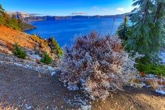 Krater jeziora widok Fotografia Royalty Free