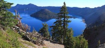 Krater jezioro Fotografia Royalty Free