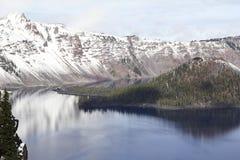 Krater jezioro, centrum kaldera Zdjęcie Royalty Free
