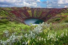 Krater Kerid på Island Royaltyfri Fotografi