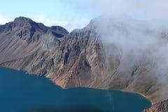 Krater Lake av det Changbai berg Arkivfoton