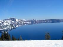 Krater laken beskådar Arkivbilder